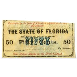 State of Florida, 1863, Obsolete Scrip Note