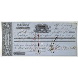 Apalachicola 1856 I/C First Bill of Exchange