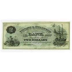 Bryant & Stratton Bank, 1860's Partially Issued College Currency