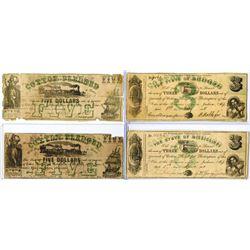 State of Mississippi, 1862 Obsolete Banknote Quartet