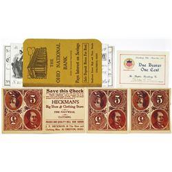 Ohio Ad Note Banking Advertisement Ephemera Group, ca.1890-1919