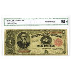 Fr. 351, Legal Tender, Series of 1891, $1, CGA Very Good 8*.