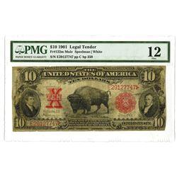 Fr. 122m Mule Legal Tender, 1901 U.S. Note, $10, PMG Fine 12.