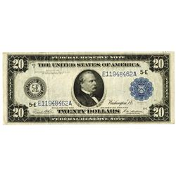 Fr. 983a $20 1914 Federal Reserve Note VF with Crisp Firm paper.
