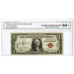Fr. 2300 $1, 1935 A Hawaii Silver Certificate, Unc. to CU Condition.