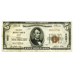 Ely, NV. First National Bank of Ely. $5, 1929 T-1 CH#8561 National Banknote.