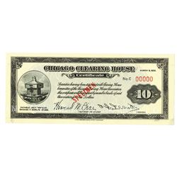 Chicago Clearing House 1933 Specimen Certificate