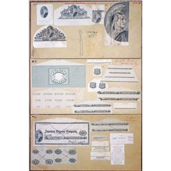 American Express Co. Travelers Checks, ca. 1960s Proof Intaglio Design Elements & Check