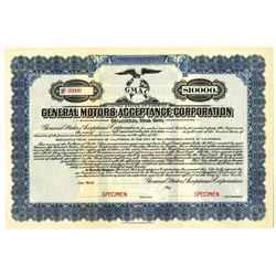 General Motors Acceptance Corp. 1925 Specimen Bond