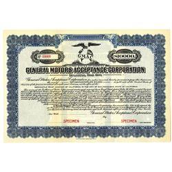 General Motors Acceptance Corp. 1925 Specimen Bond