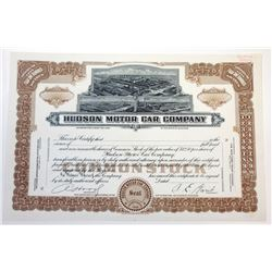 Hudson Motor Car Co., ca.1920-1930 Proof Stock Certificate