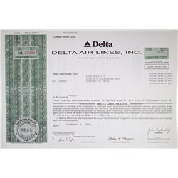 Delta Air Lines, Inc. 2006 Stock Certificate