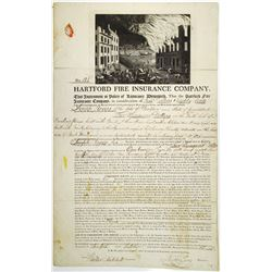 Hartford Fire Insurance Co. 1811 Issued Insurance Policy, S/N 125