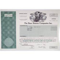 Bear Stearns Companies Inc. 2008 Stock Certificate