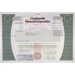 Countrywide Financial Corp. 2008 Stock Certificate