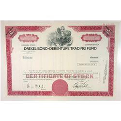 Drexel Bond-Debenture Trading Fund, 1980 Specimen Stock Certificate