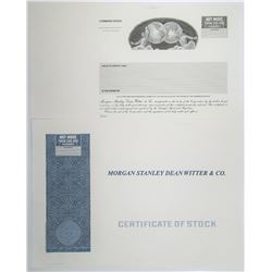 "Morgan Stanley Dean Witter & Co., 1997-98 ""Name Change"" Progress Proof Pair"