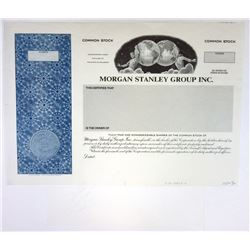 Morgan Stanley Group Inc. Proof Stock Certificate & Seal