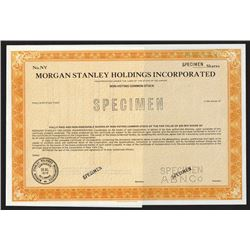 Morgan Stanley Holdings Inc. 1977 Specimen Stock Certificate.