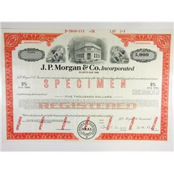 J.P. Morgan & Co. Inc., 1976 Specimen Registered Bond