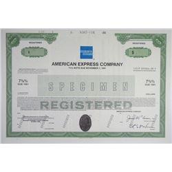 American Express Co. 1986 Specimen Bond