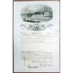 Fire Association of Philadelphia 1861 Issued Insurance Policy