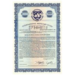 International Monetary Fund 1982 Specimen Bond