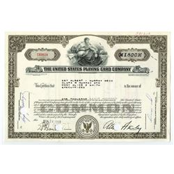 United States Playing Card Co., 1959 I/C Stock Certificate