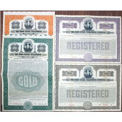 Ohio State Telephone Co. 1914 Specimen Bond Quartet