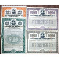 Ohio State Telephone Co. 1914 Specimen Bond Quartet