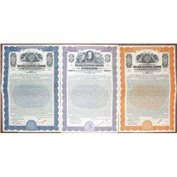 Bell Telephone Co. of Pennsylvania Specimen Bond Trio, ca. 1923-1925