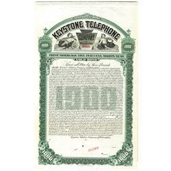 Keystone Telephone Co. of Philadelphia 1905 Specimen Bond