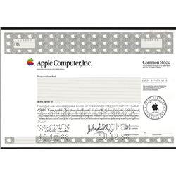 Apple Computer, Inc. 1988 Specimen Stock Certificate.