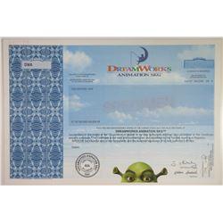 DreamWorks Animation 2004 Specimen Stock Certificate