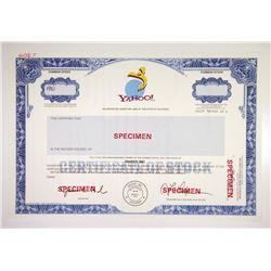 Yahoo! Inc., 1995 IPO Specimen Stock Certificate