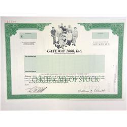 Gateway 2000, Inc., 1998 Specimen Stock Certificate