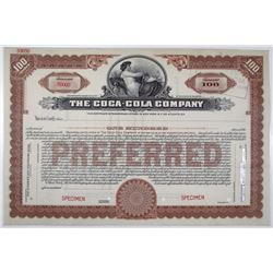 Coca-Cola Company, ca.1920's, Specimen Stock Certificate