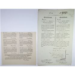 General Ledger of Public Debt of the Imperial Depreciation Commission 1836 Issued Bond Payable in Ru