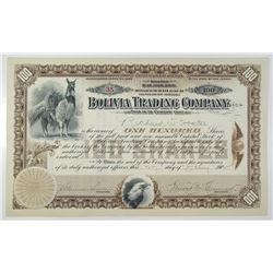 Bolivia Trading Co. 1902 I/U Stock Certificate