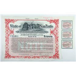State of San Paulo 1914 Specimen Bond