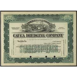 Cauca Dredging Co., 1900-1910 Specimen Stock Certificate