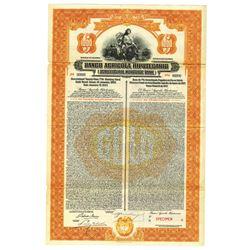 Agricultural Mortgage Bank, 1927 Specimen Bond