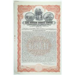 Cuba Northern Railways Co. 1927 Specimen Bond