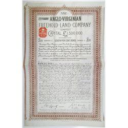 Anglo-Virginian Freehold Land Co. Ltd. 1879 I/U Bond