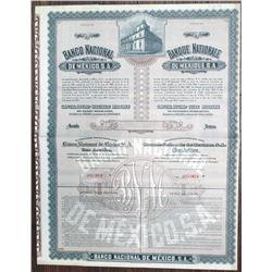 Banco Nacional de Mexico 1927 Specimen Bond