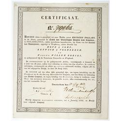 Amsterdam, Bank Der Vereenigde Staten Van America, Bank Of The United States Of America, 1852 Issued