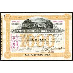 Banco de Credito Hipotecario 1877 I/U Stock Certificate