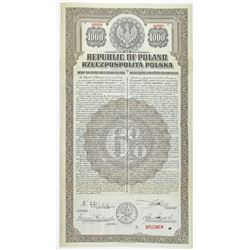 Republic of Poland 1920 Specimen Bond
