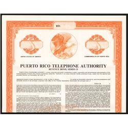 Puerto Rico Telephone Authority, 1978 Specimen Bond.