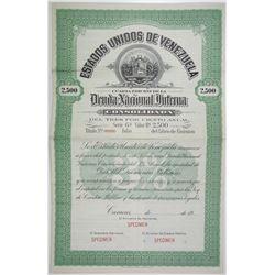 Estados Unidos de Venezuela 1900-1930 Specimen Bond